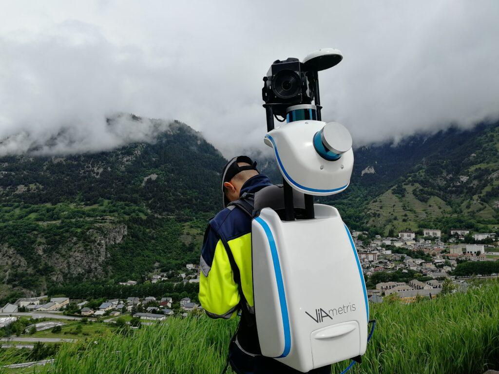 viametris BMS3D mobile scanner outdoor scan