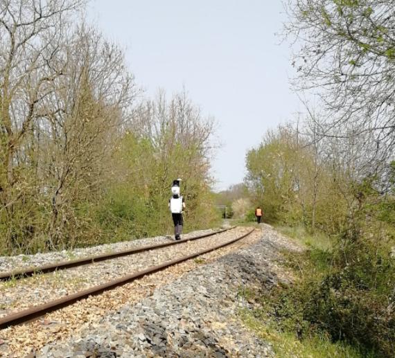 Railroad scanning with BMS3D viametris backpack